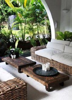 Tropical-chic Deign…outdoor seating – outdoor living - Home Decoraiton Outdoor Areas, Outdoor Seating, Outdoor Rooms, Outdoor Patios, Garden Seating, Outdoor Kitchens, Outdoor Lounge, Indoor Outdoor, Interior Exterior