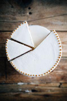 watercolor almond cake