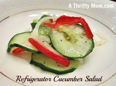 Great recipes for beating the heat. No need to turn on the oven with these recpies! cucumber salad