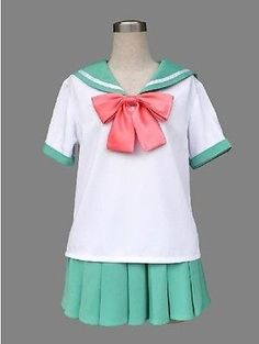 Japanese Japan School Girl Short-sleeved Uniform Cosplay Costume New-T044