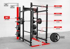 """Next purchase. RM-6 Monster Rack - 3x3"""" Steel Tubing - Rogue Fitness"""