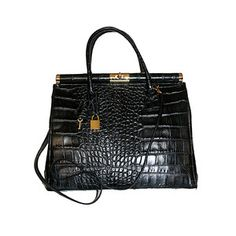 Sophia Croc Small Bag Black, $249, now featured on Fab.
