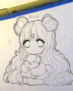 WEBSTA mrsboo It has been 17282829202927820 years that i have not drawn a chibi Enfin je fais ton dessin mdr mais j ai la flemme de colorier aujourdhui en plus la luminosit est horrible donc vais foirer apr s honeychild sorry lel prout tu minerve Anime Drawings Sketches, Kawaii Drawings, Cartoon Drawings, Cute Drawings, Cute Girl Drawing, Chibi Sketch, Anime Sketch, Chibi Drawing, Anime Character Drawing