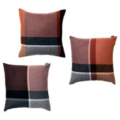 Crafted from an alpaca and sheep wool mix, add a fresh update to your master bed or keep warm on the sofa with these tartan cushions.