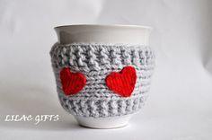 Knitted mug cozy. Made from acrylic yarn, Will fit standard size mug  $8.50  #gift