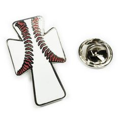 #Repost @wearablecollectibles  Baseball Crucifix Lapel Pin - 1 inch tall. Polished Nickel plating. Hard enamel fill. $10. DM if interested or buy from etsy. Link in profile. Followers appreciated.  #love # #likeme #jewelry #osucollectibles #wearablecollectibles #geekwear #geekgifts #enamelpin #lapelpin #hatpin #pinoftheday #christian #baseball #jesuslovesbaseball #jesuschrist