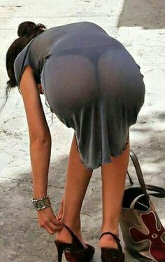 Tight Dresses, Sexy Dresses, Panty Images, See Through Clothes, Sexy Rock, Whale Tail, Sheer Beauty, Sexy Legs, Daily Fashion