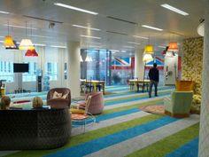 Google's London Headquarter by Penson Group #googleoffice #officedesign #interiordesign #googlelondon #ukstyle
