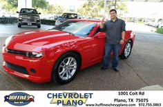 https://flic.kr/p/JnAS8P | Happy Anniversary to Ronald on your #Chevrolet #Camaro from Pamela Profitt at Huffines Chevrolet Plano | deliverymaxx.com/DealerReviews.aspx?DealerCode=NMCL