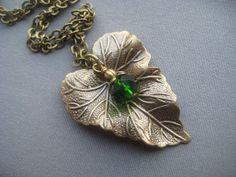 Leaf Necklace  Leaf Jewelry  Nature by SilverTrumpetJewelry, $25.00