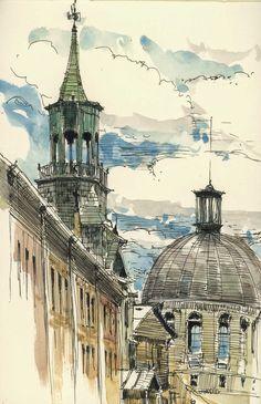 Urban Sketchers: Spire, dome and ziggurat