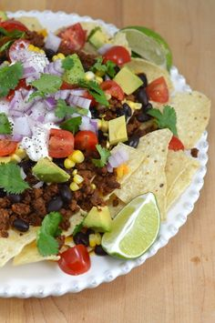Loaded Vegan Nachos - quick & healthy guilt-free junk food!