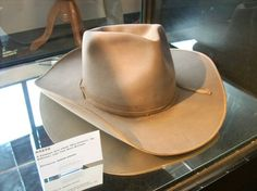 "The hat John Wayne wore in ""McClintock, ""El Dorado"", and ""The War Wagon""."