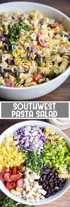 Best Pasta Salad, Summer Pasta Salad, Summer Salads, Summer Bbq, Cold Pasta Salads, Cold Pasta Recipes, Cold Pasta Dishes, Chicken Pasta Salad Recipes, Healthy Pasta Salad