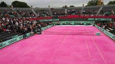 Pink Tennis Court