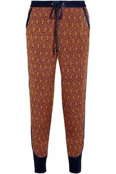 3.1 PHILLIP LIM  Silk satin-trimmed jacquard tapered pants  173£  https://www.theoutnet.com/en-gb/shop/product/item_cod1998551928957659.html