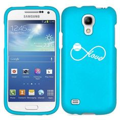 Samsung Galaxy S4 MINI S IV Snap On 2 Piece Rubber Hard Case Cover Infinity Infinite Love for Baseball Softball