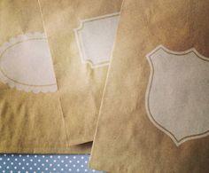 Kraft Paper Bags - Notched Box