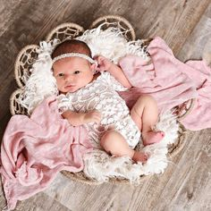Excited to share the latest Ready To Ship addition to my #etsy shop: Girls Newborn Vintage Lace Romper ~ Newborn Photography Prop, Sleeved Vinatge Lace Open Back Prop