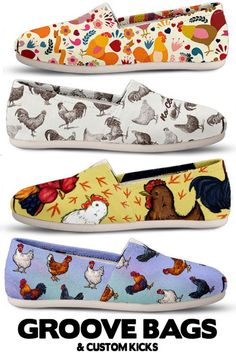 Do you love chickens & roosters? Check out our amazing chicken designs and fall in love! Are you a crazy chicken lady? Do you raise chickens or have a chicken coop? Backyard chickens or pet chickens are so fun, why not look styling with our chicken shoes! Chicken Shoes, Raising Chickens, Pet Chickens, Chicken Tractors, Coffee Meme, Coffee Barista, Coffee Creamer, Coffee Scrub, Coffee Signs