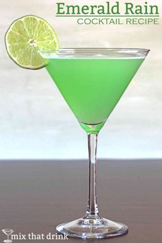 The Emerald Rain cocktail recipe blends Hpnotiq with orange juice and lime. The flavor has sharp citrus notes with mellow tropical fruitnotes. It's also a gorgeous drink, as you would expect from the name.