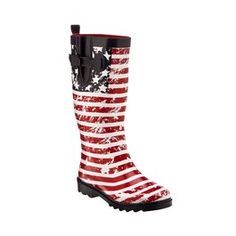 Patriotic Rain Boots! If Hurricane #Isaac comes to #Tampa, delegates can be prepared and stylish. #gop2012