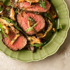 Venison Steaks with Caramelized Onions and Mushrooms Recipe