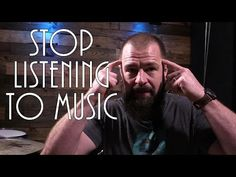 Stop Listening To Music (Stephen Taylor) -- One of our biggest tools as musicians. Learn Drums, How To Play Drums, In Ear Monitors, Double Bass, Music School, Clarinet, Listening To Music, Classical Music, Choir