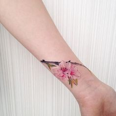 cherry flower tattoo