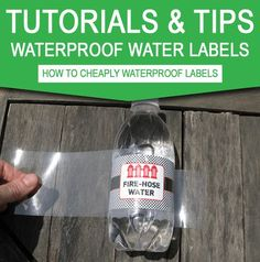 See how to cheaply waterproof your Water Bottle Labels. Instantly download my water bottle labels template - perfect for birthday parties!