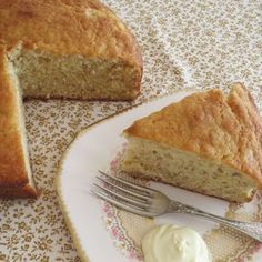Custard powder isn't a standard ingredient for a cake, but this one is yummy - give it a try. Mini Quiches, Custard Powder, Moist Cakes, Cake Tins, Tray Bakes, The Fresh, Good Food, Vegetarian, Tasty