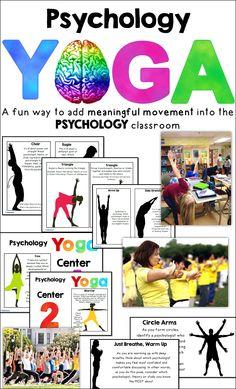 Psychology Yoga a fun activity for the psychology classroom!