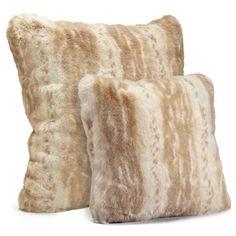 Blonde Mink Faux Fur Pillows by Fabulous Furs