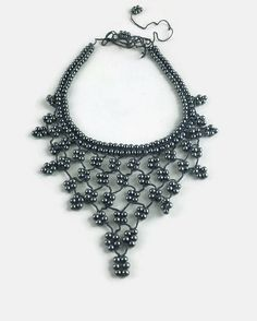 This unique and bib style elegant necklace is hand crocheted with grayish blue oya thread and lovely round glass beads . Chic and feminin to wear or gift to someone loved !   Tie up ends ... Ready to ship      -- Shipping --  Orders are sent from Istanbul City, Turkey via registered airmail with tracking number. Approximate shipping time to the U.S. and Canada is 15-20 days; to Europe is 10-15 days.   Please consider that colors may vary in different monitors .Thanks in advance for your…