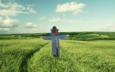 O Scale Detail SCARECROW, for a field, farm scene etc, FINISHED