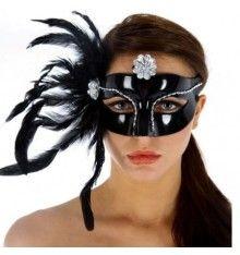 Máscara veneciana acabado en negro Sunglasses Women, Halloween Face Makeup, Sexy, Venetian, Mascaras, Black, Silver Color, Black Colors, Wolves