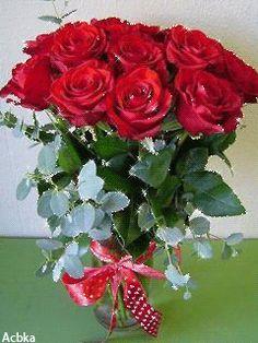 Букет прекрасных роз - анимация на телефон №1253496
