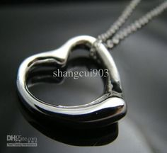 Wholesale Fashion jewelry 925 Silver big Heart charm necklace fit Valentine's day brand new, Free shipping, $1.47-2.12/Piece | DHgate