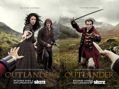 It's Claire Vs. Black Jack! Outlander's Dark New Poster Is So Epic  Outlander Poster