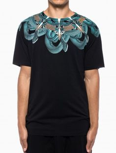 Shemesh t-shirt from the F/W2013-14 Marcelo Burlon County of Milan collection in black.