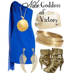 """Nike: Goddess of Victory"". My total style of color and angelic champion!"