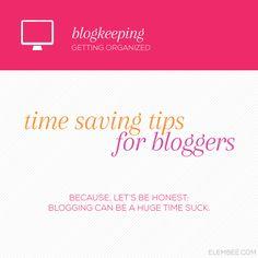 Blogkeeping // Time saving tips for bloggers, including using the WordPress Editorial Calendar plugin // Elembee.com