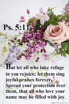 Psalm 5:11 - But let all those that put their trust in thee rejoice: let them ever shout for joy, because thou defendest them: let them also that love thy name be joyful in thee.