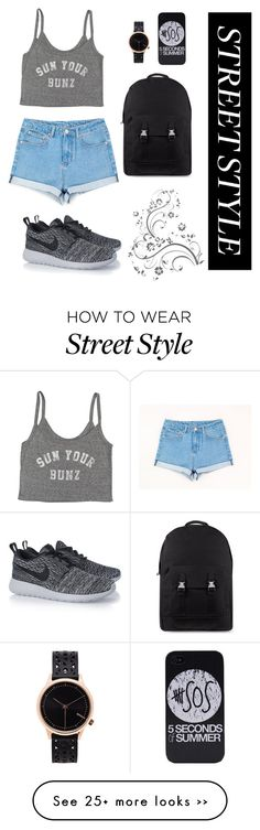 """Untitled #45"" by ivasiukyana on Polyvore featuring Billabong, NIKE, C6 and Komono"