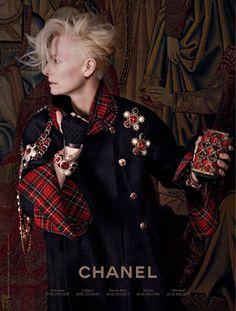 Tumblr  Tilda Swinton by Karl Lagerfeld. CHANEL Paris-Ediburgh AD Campaign. 2013