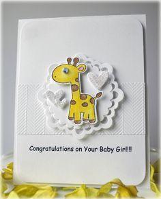 Giraffe Baby Girl Card - Scrapbook.com