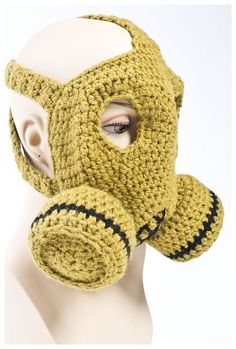 nathan vincent crochet gas mask De Stash Your Yarn With a Donation to Male Crochet Artist Crochet Mask, Crochet Faces, Crochet Hooks, Knit Crochet, Crochet Braid, Masque Halloween, Crochet Costumes, Halloween Crochet, Yarn Over