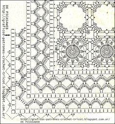 crochet,ganchillo,tejidos de,patrones,esquemas,gráficos,diagramas,regalos,trabajo,compra,venta,ropita bebe, Crochet Table Runner Pattern, Crochet Edging Patterns, Crochet Motifs, Crochet Borders, Crochet Diagram, Doily Patterns, Crochet Chart, Crochet Squares, Thread Crochet