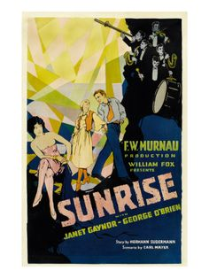 Sunrise, (Aka 'sunrise: a Song of Two Humans'); in Foreground, 1927 Poster