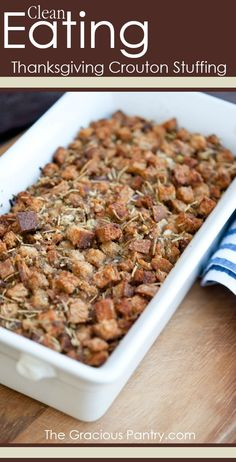 You just can't beat a good crouton stuffing!
